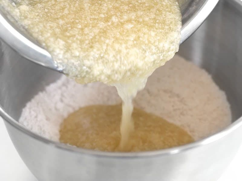 Combine wet and dry ingredients