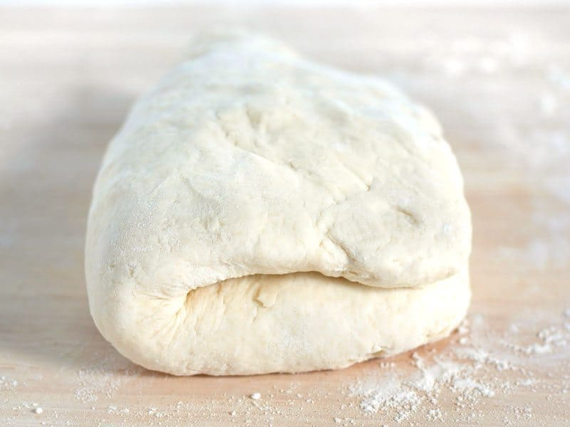 Fold Over biscuit Dough to create layers