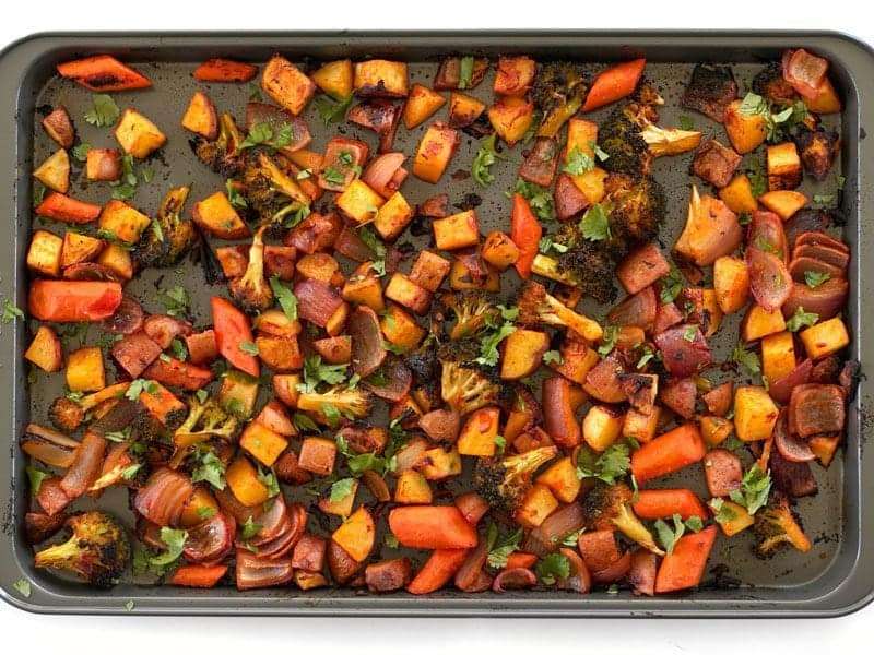 Harissa Roasted Vegetables