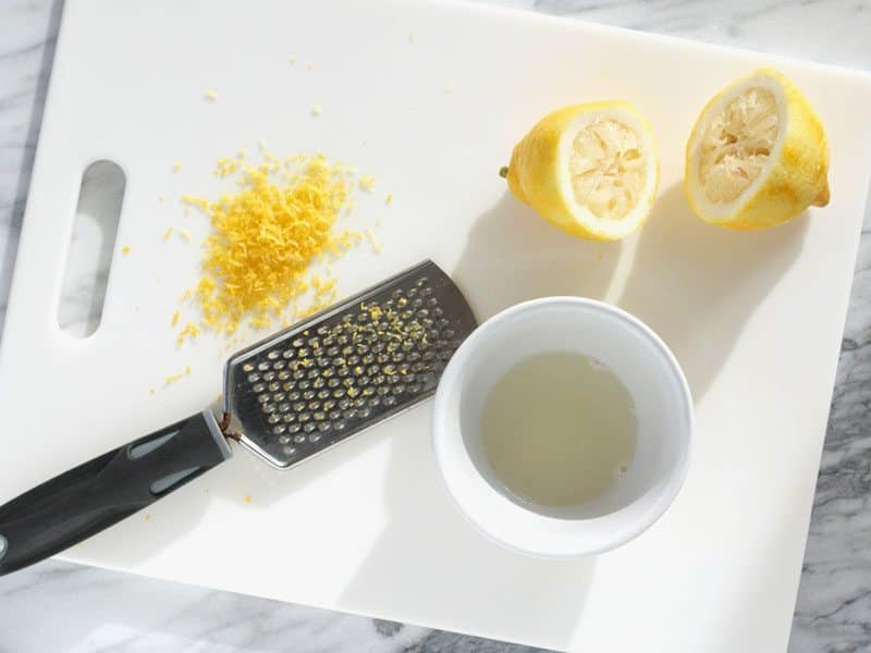 Lemon Juice and Zest
