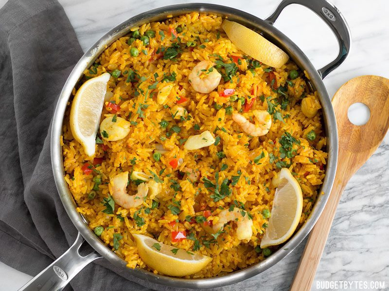Seafood Rice Skillet Is A Nod To Paella Using Easy Find Ingredients And Equipment