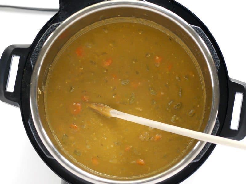 Stir spit pea soup Until Smooth