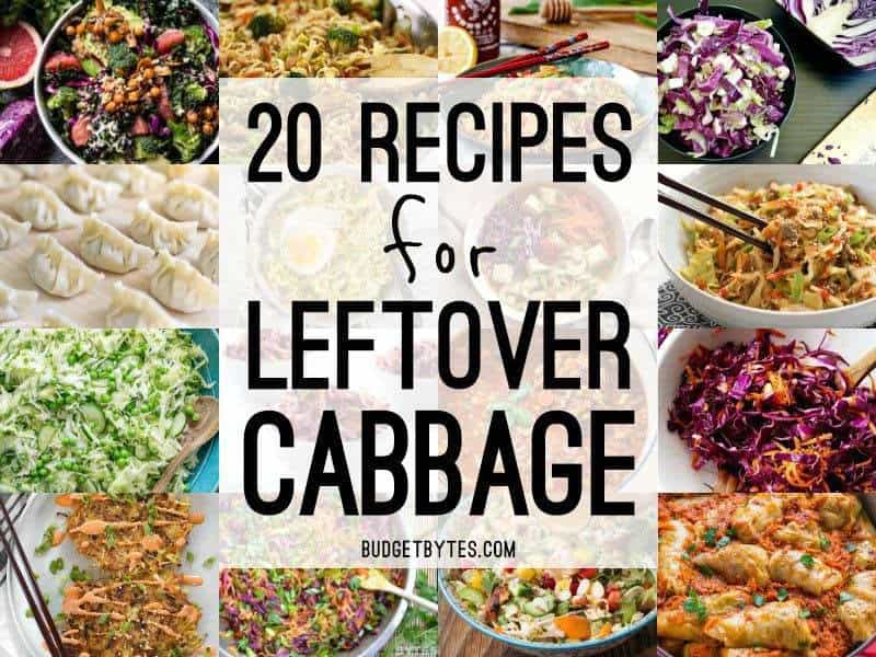 20 Recipes For Leftover Cabbage Budget Bytes