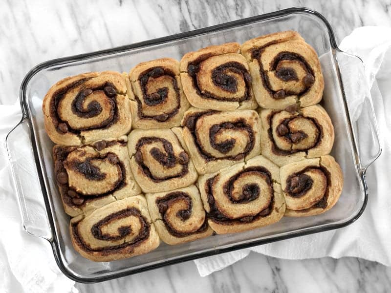 Baked Chocolate Cinnamon Buns
