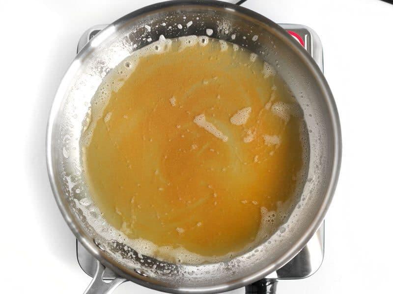 Deep Golden Butter solids, no more foam on melted butter