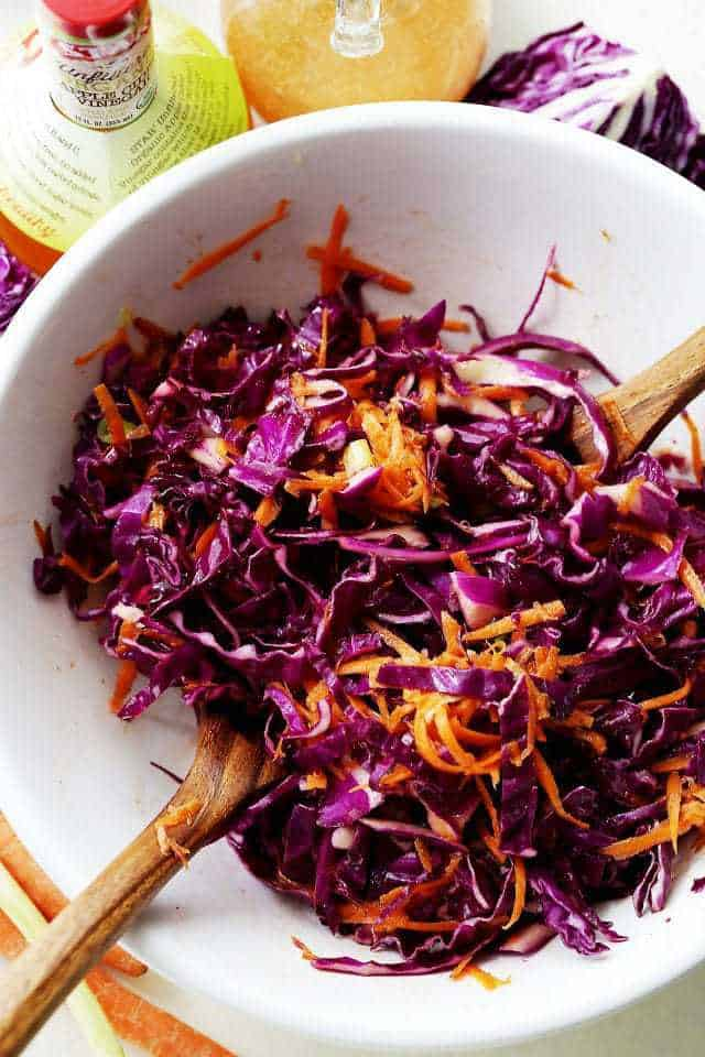 Red Cabbage and Carrot Slaw