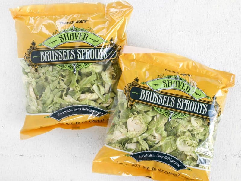 Shaved Brussels Sprouts in the bags, from Trader Joes