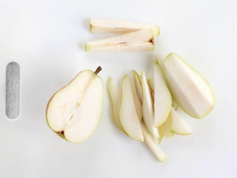 Thinly Sliced Pear