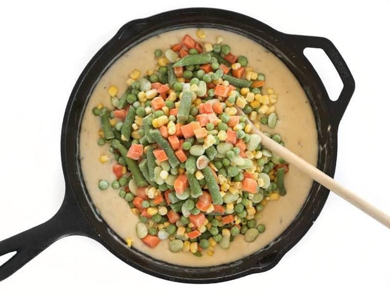 Add Frozen Vegetable Mix