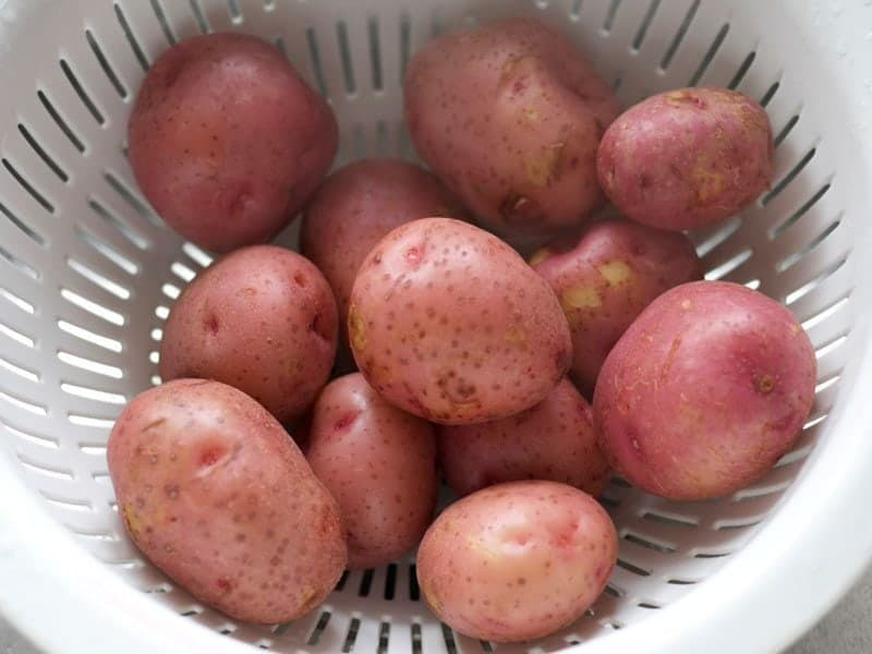 Boiled Potatoes in strainer