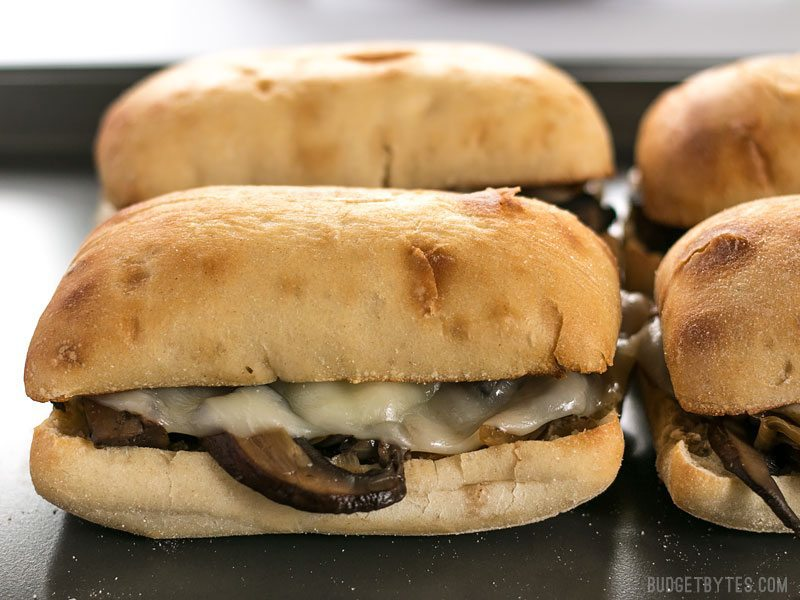Finished Vegetarian French Dip Sandwiches