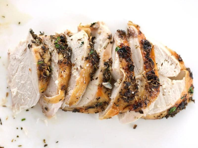 Herb Roasted Chicken Breast sliced
