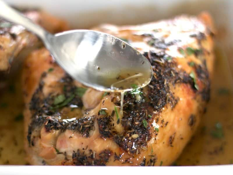 Herb Roasted Chicken Breasts Final Baste