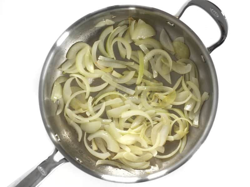 Sauté Onions in the skillet