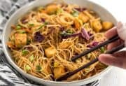 Singapore Noodles with Crispy Tofu