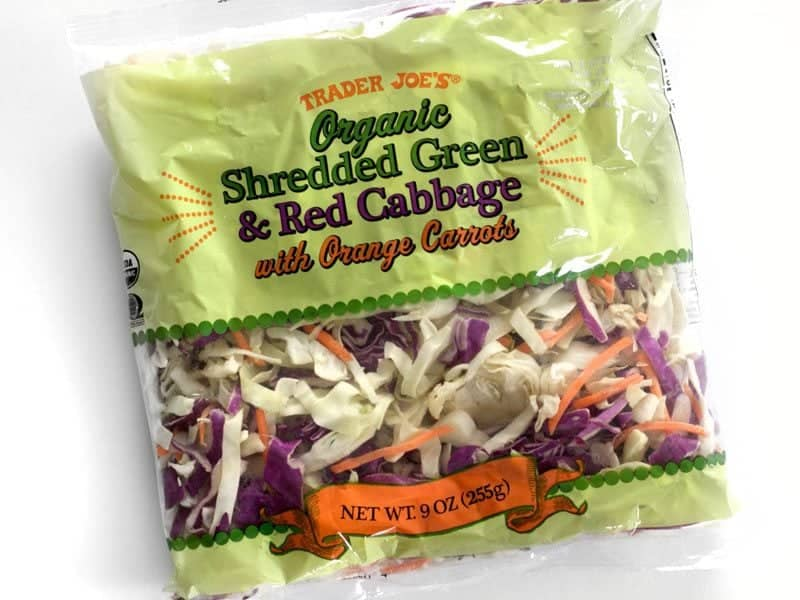Trader Joes Slaw Mix in the bag