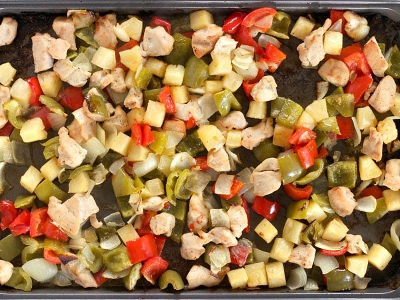 Baked Chicken Peppers and Onion