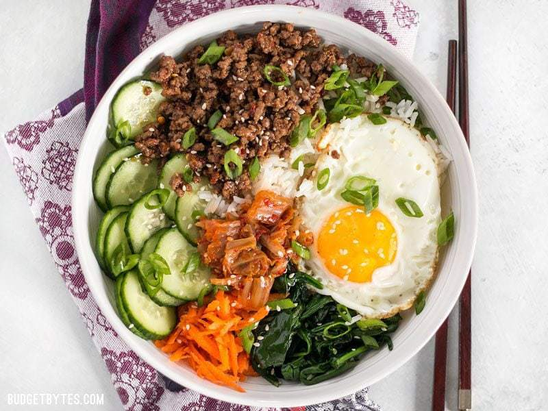 Bibimbap The Ultimate Bowl Meal Budget Bytes