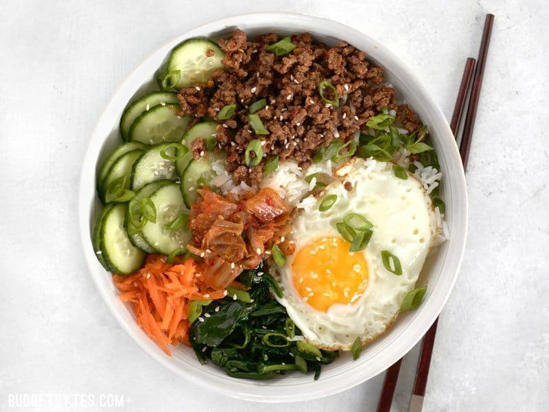 Build Bibimbap Bowls