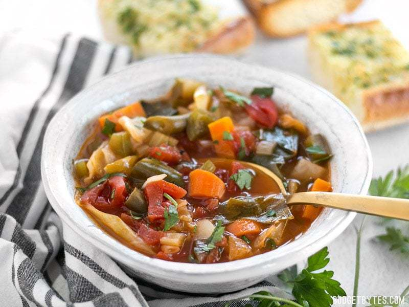 All You Can Eat Cabbage Soup Vegetarian Budget Bytes