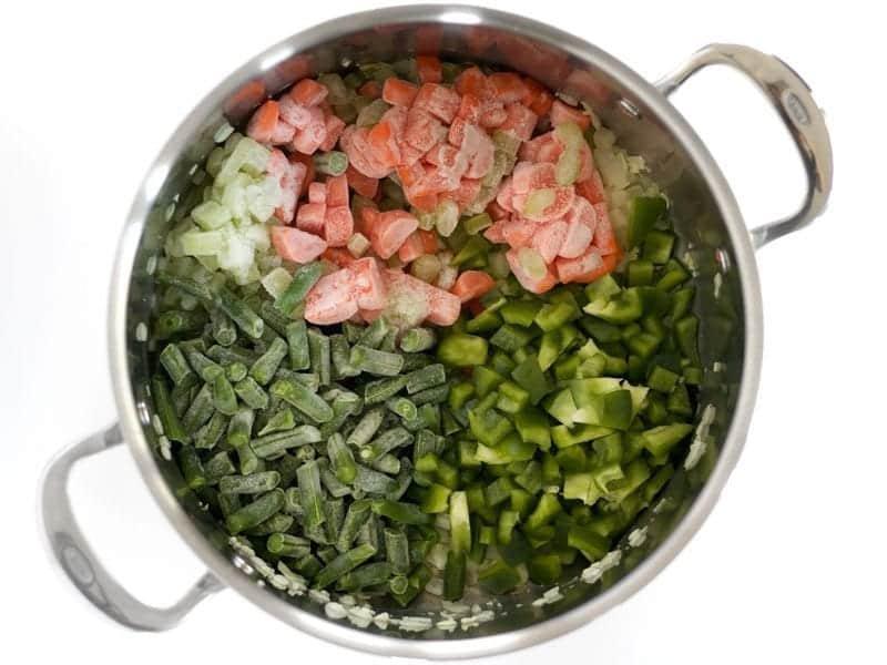 Carrots Celery Green Beans Bell Pepper