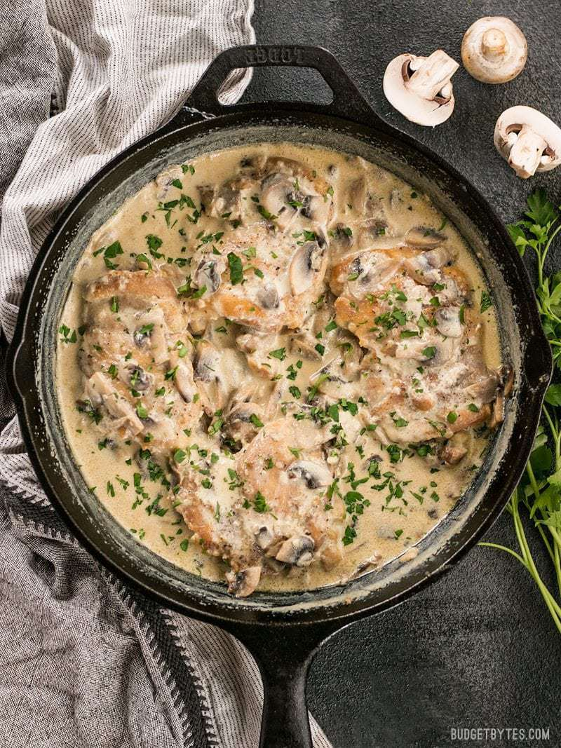 Easy recipes with chicken and mushrooms