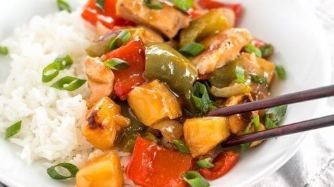 Sheet Pan Sweet And Sour Chicken Budget Bytes