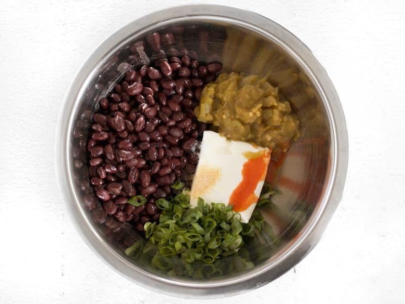 Taquito Filling Ingredients in a bowl, unmixed