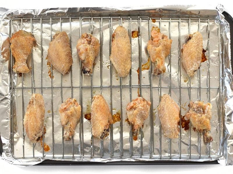 Baked Chicken Wings just out of the oven