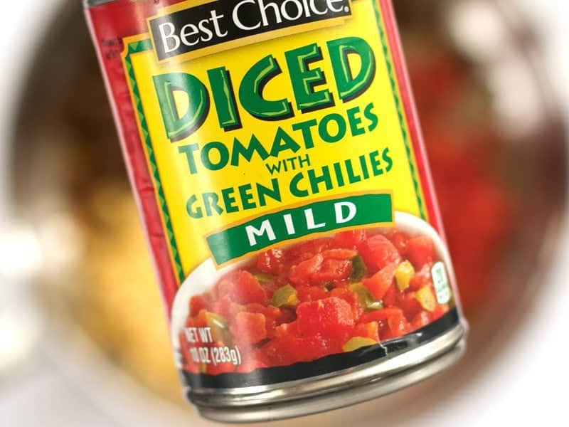 Can of Diced Tomatoes with Chiles