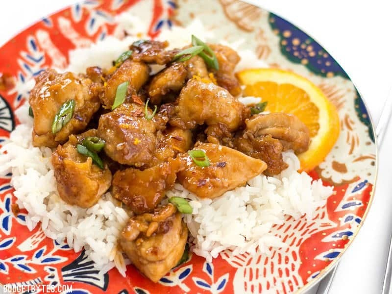This Easy Orange Chicken cooks quickly in a skillet (no deep frying!) and uses only real, fresh ingredients. It's the perfect take-out fake-out. BudgetBytes.com