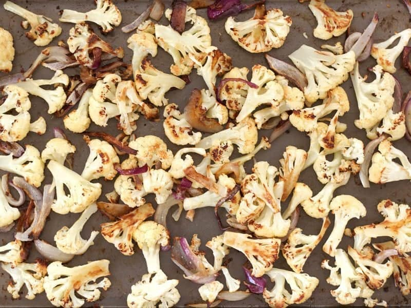 Roasted Cauliflower and Red Onion