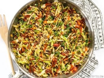 This Southwest Beef and Cabbage Stir Fry is a fast, easy, and flavorful way to make sure dinner is filled with plenty of vegetables. BudgetBytes.com