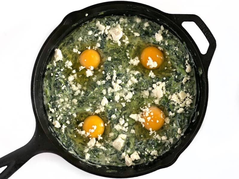 Add Eggs and Feta