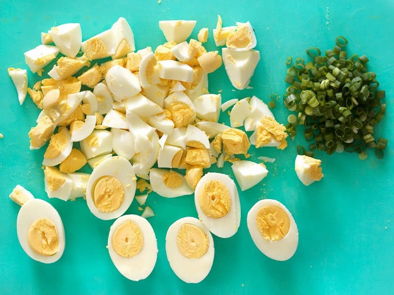 Chop Eggs and Green Onions