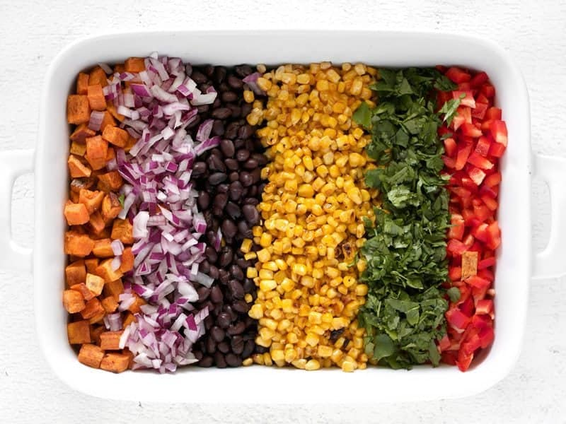 Rainbow Salad Ingredients