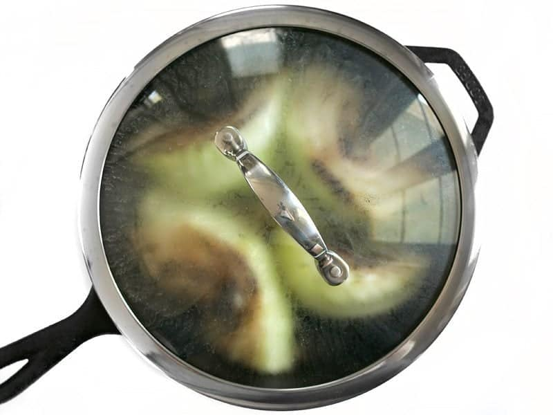 Add a lid to skillet to Steam Cabbage Wedges