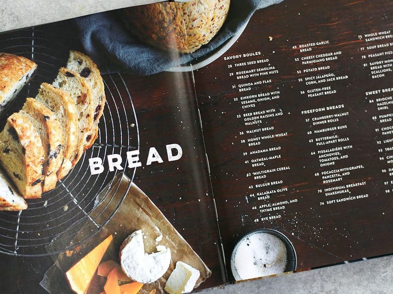 Inside of the book Bread Toast Crumbs by Alexandra Stafford
