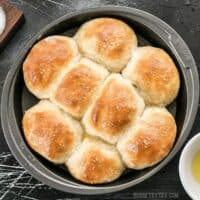 These incredible light and delicate Buttermilk Pull-Apart Rolls couldn't be easier thanks to a simple no-knead dough. BudgetBytes.com