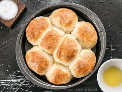 Buttermilk Pull-Apart Rolls from Bread Toast Crumbs