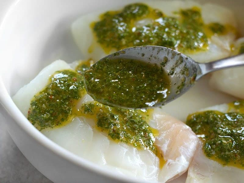 Coat Fish in Chimichurri