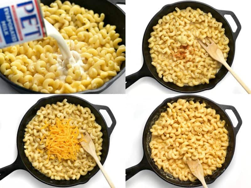Mac and Cheese Steps Collage