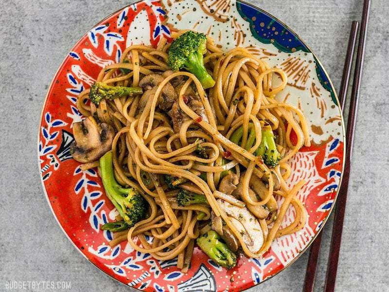 Simple Mushroom Broccoli Stir Fry Noodles Budget Bytes