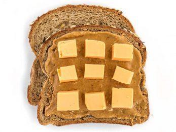 Peanut Butter and Velveeta Sandwiches