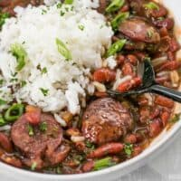 Pressure Cooker Red Beans are a fast, inexpensive, filling, and flavorful staple meal. It's a Louisiana tradition, but FASTER! BudgetBytes.com