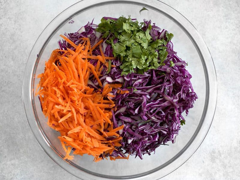 Purple Slaw Ingredients