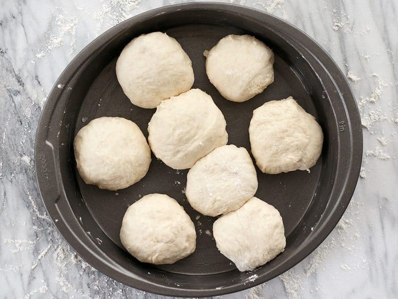 Shaped Rolls in the Round Bread Pan