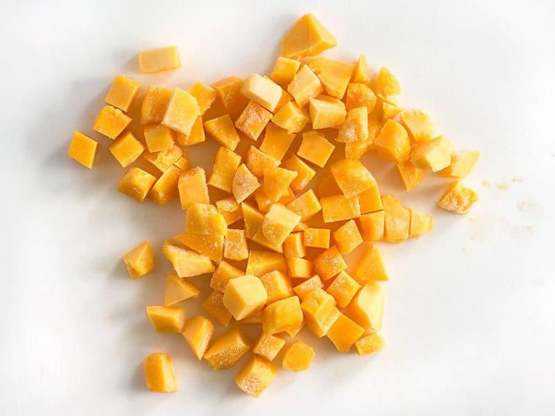 Frozen Cubed Mango