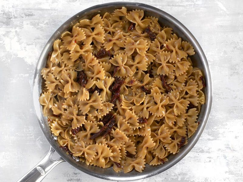 Cooked Pasta in skillet