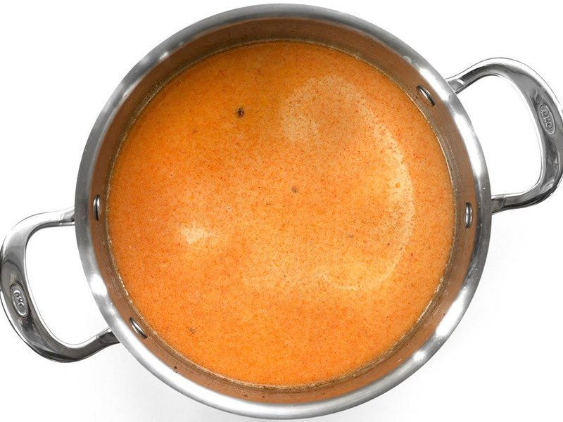 Evaporated Milk and Spices in pot
